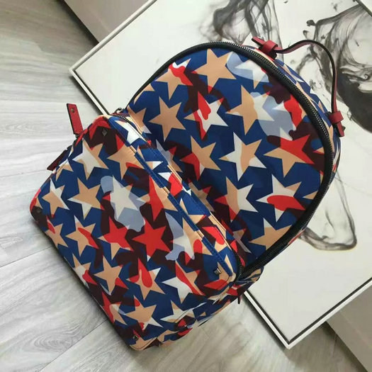 2016 New Valentino Garavani Camustars Backpack in Multicolor