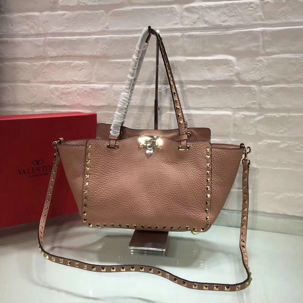 New Valentino Small Rockstud Bag in Soft Grain Leather