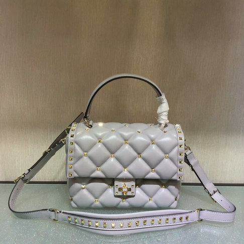 2018 S/S Valentino Candystud Single Handle Bag in lambskin leather