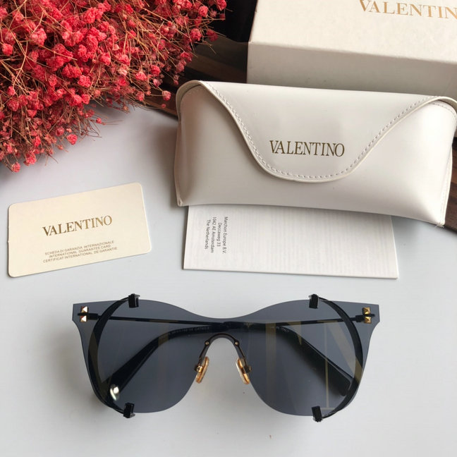 2019 Valentino VLTN Printed Mirrored Metal Sunglasses VA2016