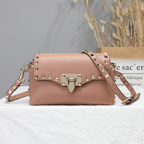 2019 Valentino Rockstud Mini Crossbody Bag in Grain Calfskin Leather
