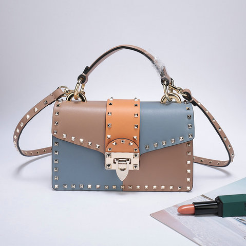 2019 Valentino Small Crossbody Bag in Multicolor Smooth Calfskin