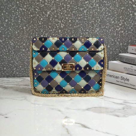 2019 Valentino Medium Multicolor Rockstud Spike.it Bag