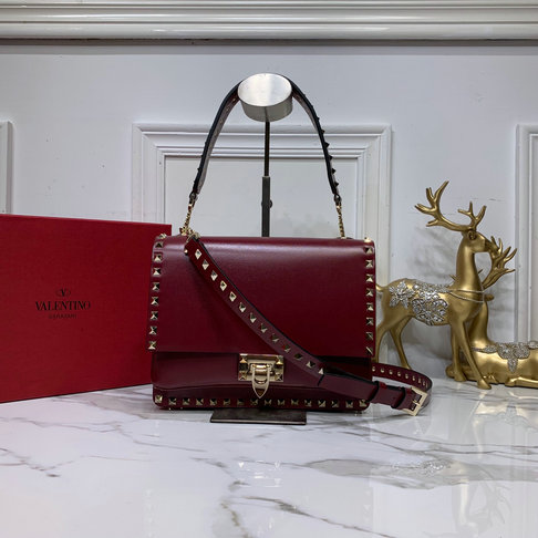 2019 Valentino Rockstud Crossbody Bag in Smooth Calfskin Leather