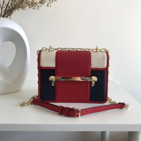2019 Valentino Small Uptown Shoulder Bag in Multicolor Leather