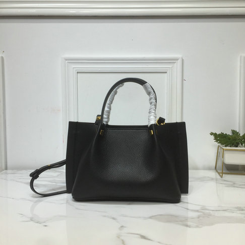 2019 Valentino Small VLOGO Escape Grainy Calfskin Shopper in Black