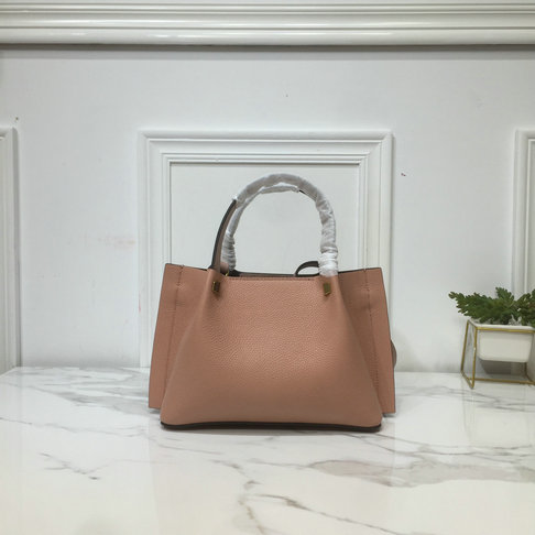 2019 Valentino Small VLOGO Escape Grainy Calfskin Shopper in Nude