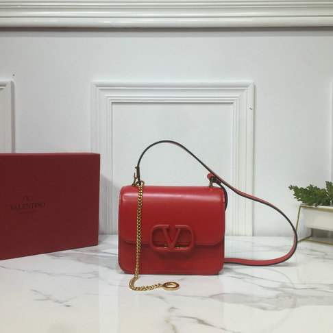 2019 Valentino Small VSLING Shoulder Bag in Red Leather