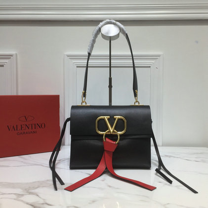 2019 Valentino Small Vring Shoulder Bag in Smooth Leather