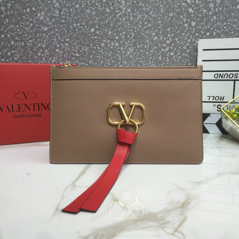 2019 Valentino VLOGO Pouch in Calfskin Leather