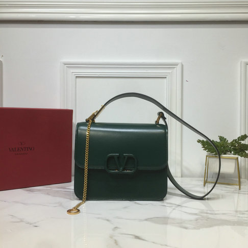 2019 Valentino VSLING Shoulder Bag in Green Leather
