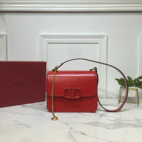 2019 Valentino VSLING Shoulder Bag in Red Leather