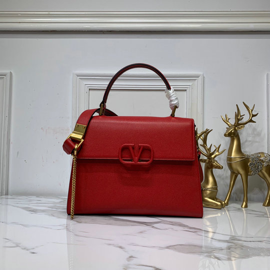 2019 Valentino VSLING Handbag in Grainy Calfskin Leather