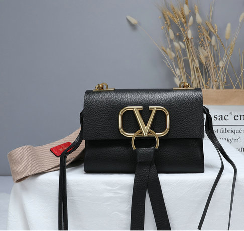 2019 Valentino Small Vring Bag with wide webbing shoulder strap