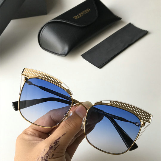 2019 Valentino Cat-eye Metal Sunglasses VA2017