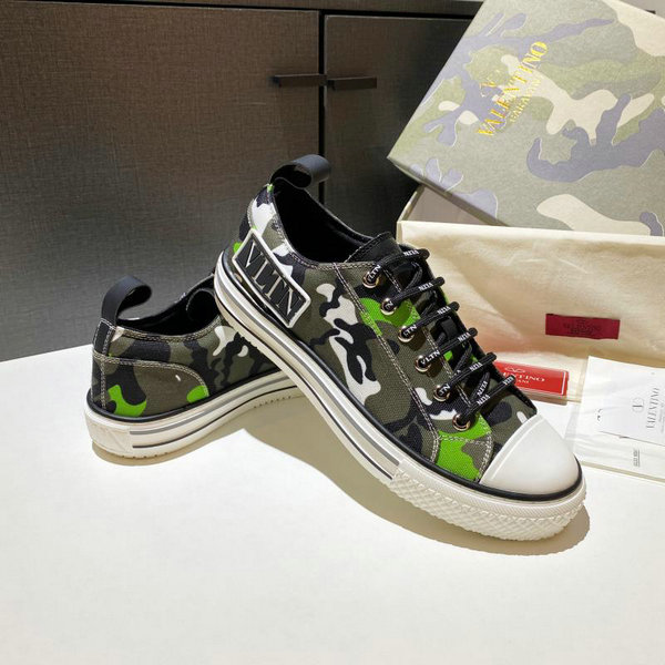 2020 Unisex Valentino Giggies Camouflage-print Canvas Trainers 02