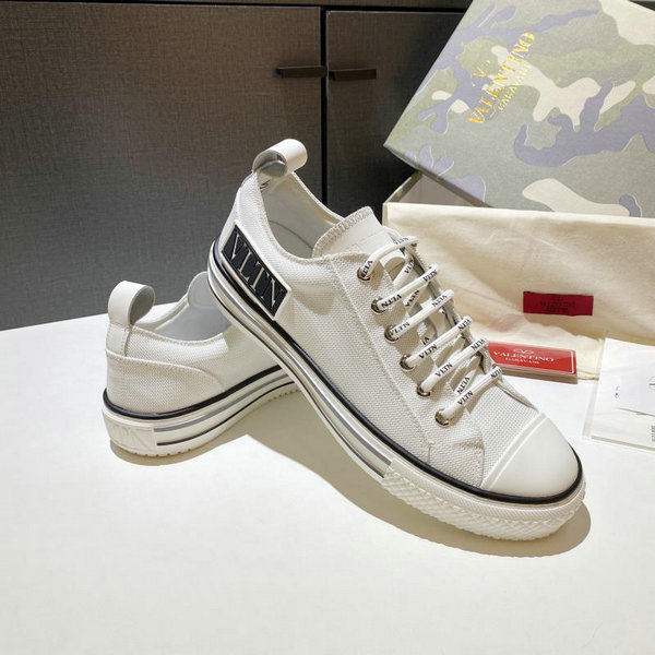 2020 Unisex Valentino VLTN Times Giggies Canvas Sneakers in White