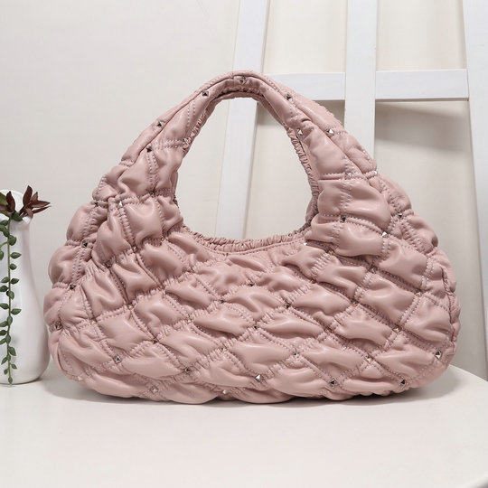 2020 Valentino SpikeMe Hobo Bag in Pink Nappa Leather