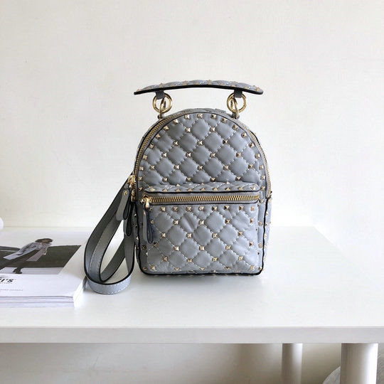2018 S/S Valentino Rockstud Spike Mini Backpack in Lambskin Leather
