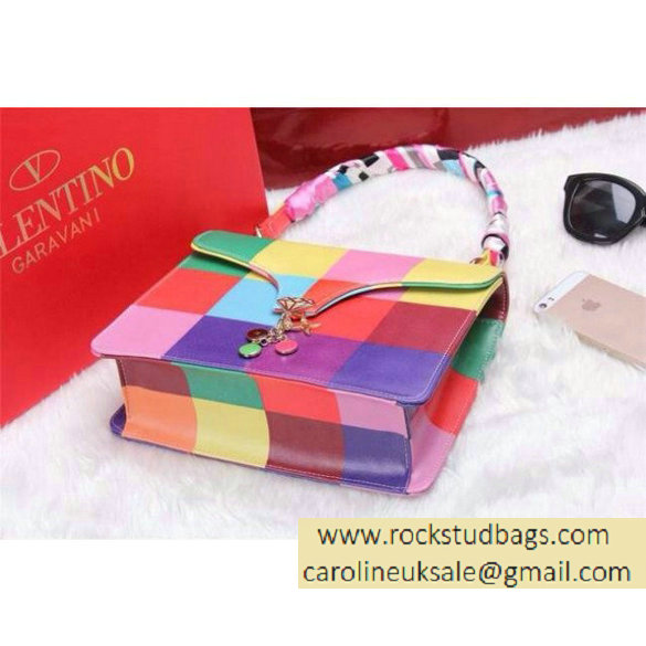 2016 Resort Valentino Rainbow Zigzag Flap Bag