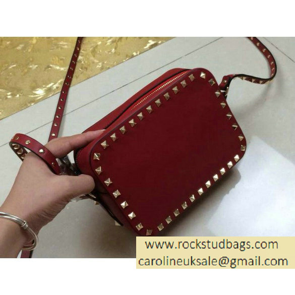 Valentino rockstud crossbody bag red