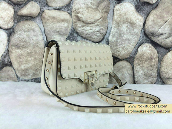Valentino White Rockstud All Over Crossbody Bag