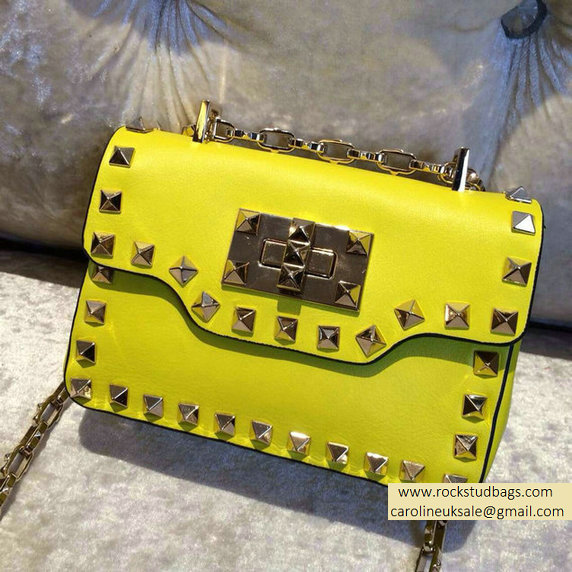 Valentino Rockstud chain shoulder bag Yellow