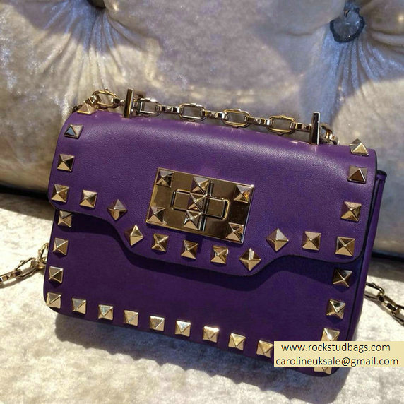 Valentino Rockstud chain shoulder bag Violet