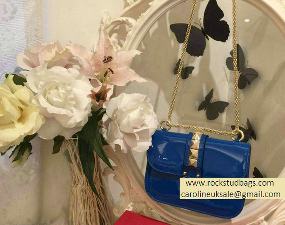 Valentino Royal Blue Rockstud Flap small Bag
