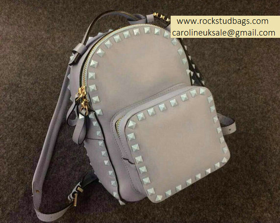 Valentino Grey Rockstud Small Backpack(Grey Rivet)