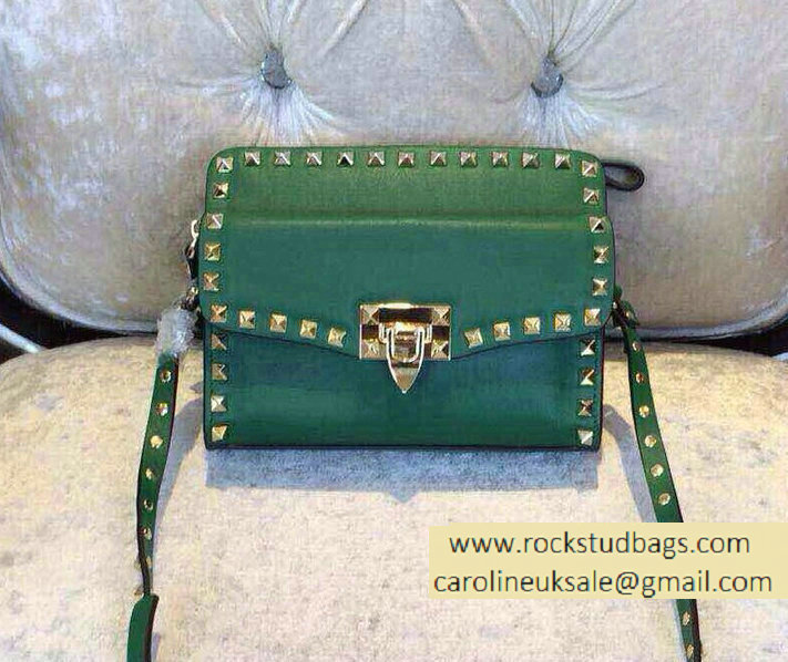 Valentino Two Part Shoulder Bag Green 2015