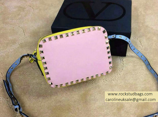 Valentino Colorblock Rockstud Crossbody Bag Pink/Blue/Yellow