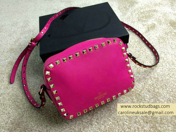 Valentino Rockstud Crossbody Bag in Rose Red