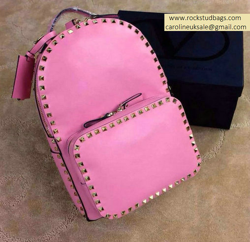 2015 Valentino Garavani Rockstud Medium Backpack in Pink - Click Image to Close