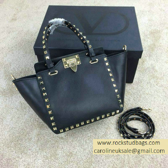 Valentino Rockstud Mini Tote in Black 2015