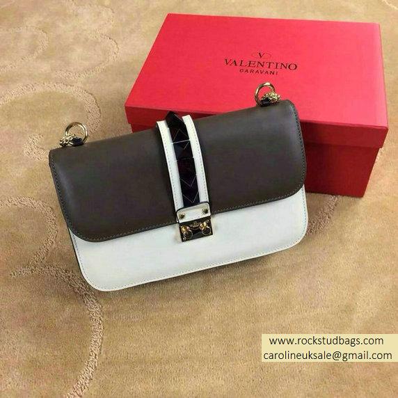 a2551ad121 Valentino Psychedelic Rockstud Lock Medium Shoulder Bag Baby Black/White  larger image