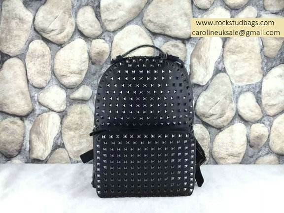 2015 Valentino Garavani Rockstud Medium Backpack With All Platinum Hardware