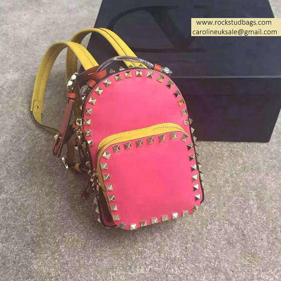 Valentino Multicolor Rosy Rockstud Small Backpack
