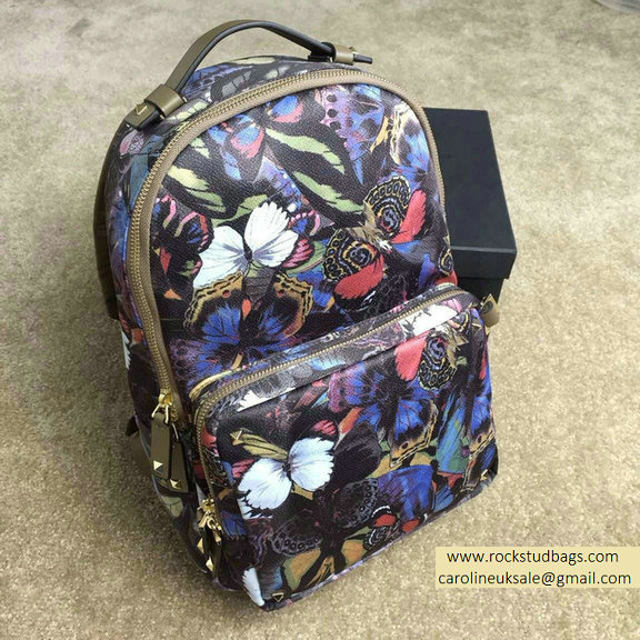 Valentino Rockstud Butterfly Medium Backpack 2015