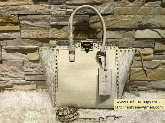Valentino Fabric Double Handle Bag White 2015