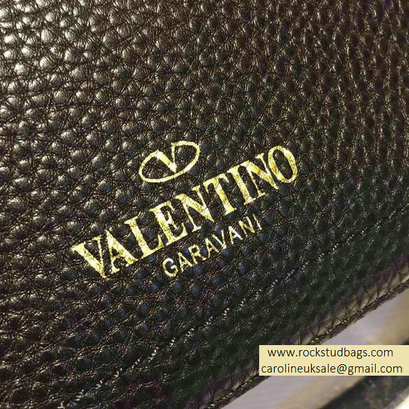 2015 Valentino Black Calfskin Eye On You Shoulder Bag
