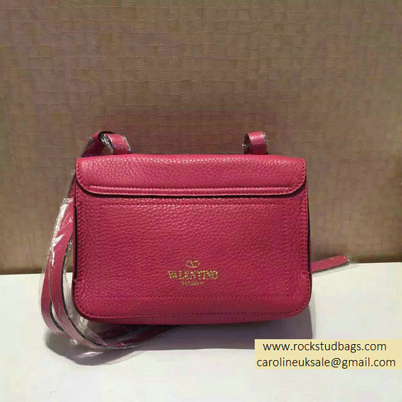 2015 Valentino Rosy Calfskin Eye On You Shoulder Bag