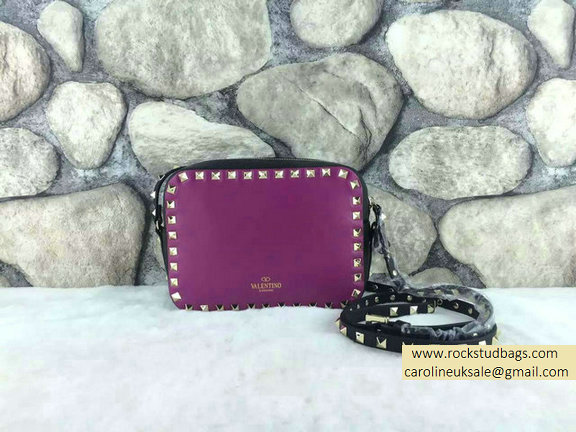 Valentino Colorblock Rockstud Crossbody Bag Purple/Black