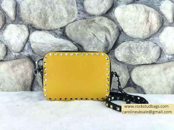 Valentino Colorblock Rockstud Crossbody Bag Yellow/Black