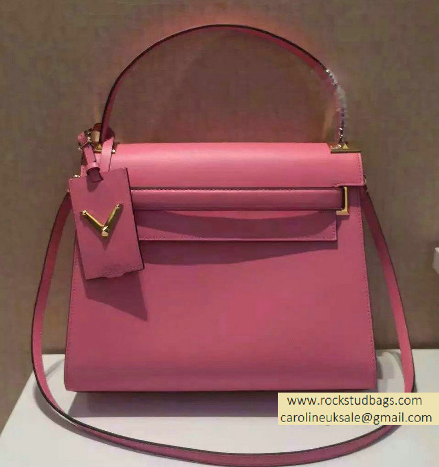 Valentino Single Handle Bag in Pink Calfskin 2015