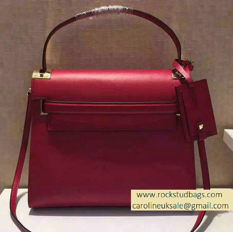 Valentino Single Handle Bag in Red Calfskin 2015