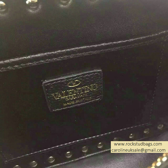 Valentino Jacquard Fabric Crossbody Bag Black 2015