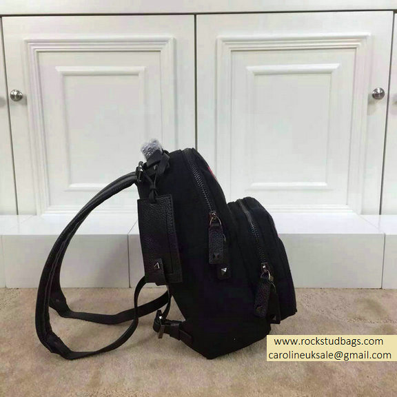2015 Valentino Camu Butterfly Small Backpack Black