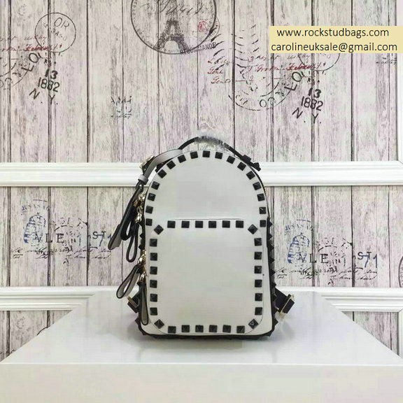 2015 Valentino Multicolor Ivory/Black Rockstud Small Backpack