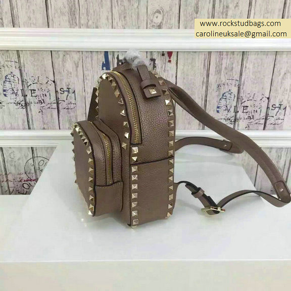 2015 Valentino Camel Rockstud Small Backpack
